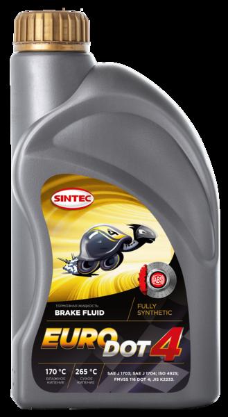 Жидкость тормозная Sintec Euro Dot-4 910 мл
