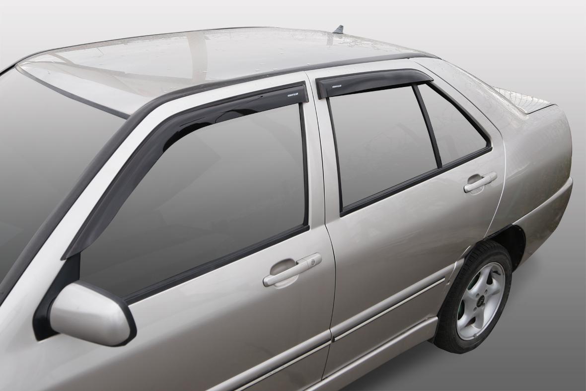 Дефлекторы на боковые стекла Chery Amulet 2003-2010/Vortex Corda седан 2010-2012 накладные 4 шт. Corsar DEF00469