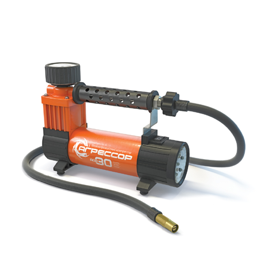 Компрессор Autoprofi Агрессор 30 л/мин до 7 атм 140 Вт фонарь 0,35 Вт AGR-30L