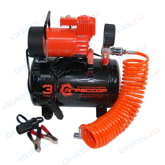 Компрессор Autoprofi Агрессор 30 л/мин до 7 атм 140 Вт ресивер на 3 л AGR-3LT