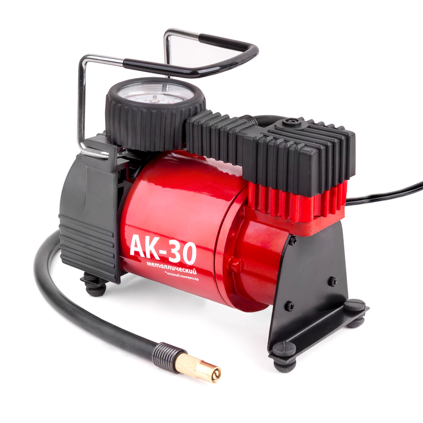 Компрессор Autoprofi 30 л/мин до 7 атм 120 Вт с крокодилами металлический AK-30