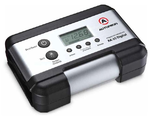 Компрессор Autoprofi 30 л/мин до 7 атм 120 Вт цифровой дисплей тест АКБ и генератора металлический AK-35 Digital