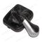 Ручка рычага КПП с чехлом и рамкой 2113-15 кожа серебро КПП00075