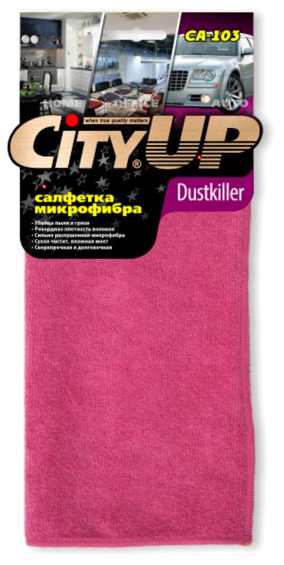 Салфетка City Up микрофибра Dust Killer шелковый ворс СА-103