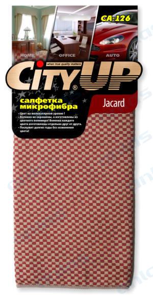 Салфетка City Up микрофибра Jacard 2х-стороннее волокно 35 х 40 см СА-126