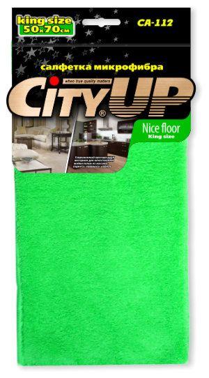 Салфетка City Up микрофибра Nice Floor протирочная 50 х 70 см СА-112L