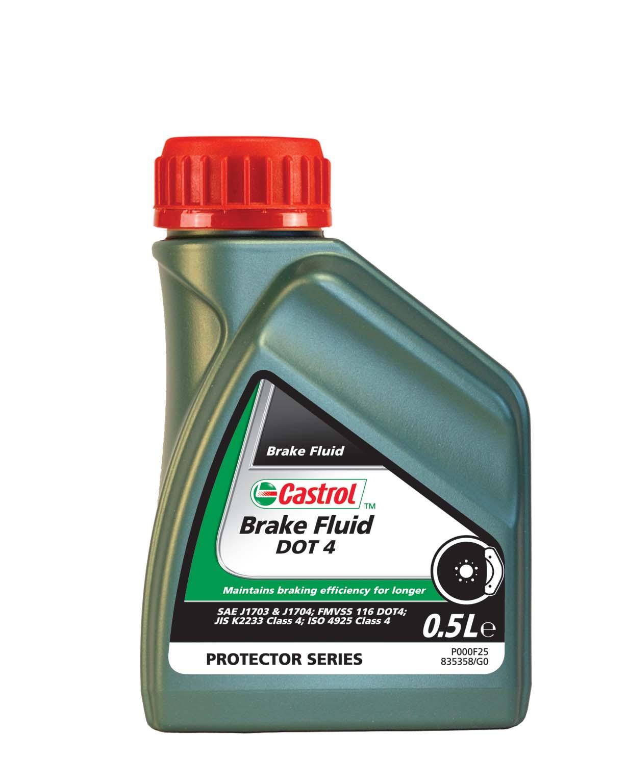 Жидкость тормозная Castrol Brake Flluid Dot-4 синтетическая 0,5 л