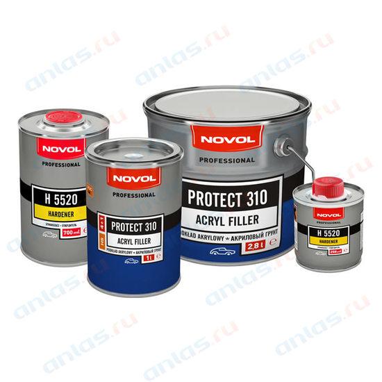 Грунт Novol акриловый 4+1 HS Protect 310 черный 1 л+0,25 л