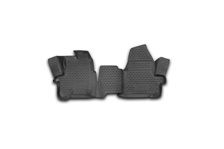 Коврики резиновые Ford Transit 2014-> 2015 3D полиуретан 2 шт. Novline
