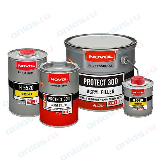 Грунт Novol акриловый 4+1 MS Protect 300 черный 1 л+0,25 л