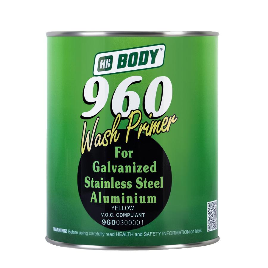 Грунт Body 960 Wash Primer кислотный желтый 1 л+1 л