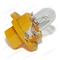 Лампа 12 В 1,1 Вт пластмассовый цоколь желтая Диалуч 82111