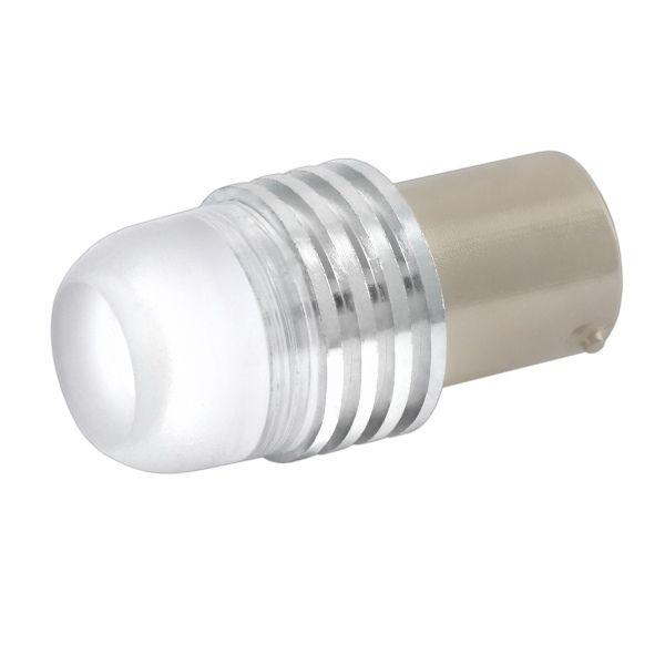 Светодиод 12В 21Вт металлический цоколь 1-конт. белый 1 LED (поворот) Skyway S1156HP W