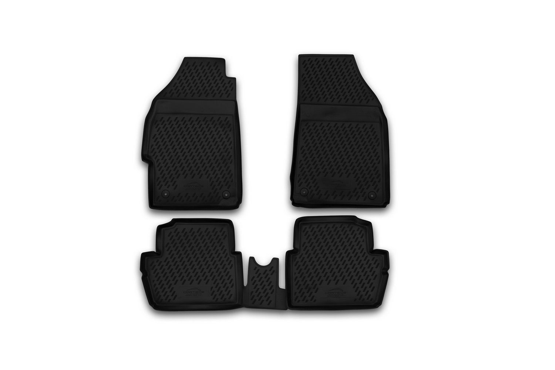 Коврики резиновые Chevrolet Spark III 2010->полиуретан 4 шт. Novline CARCHV00015h
