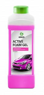 Автошампунь для б/мойки Grass Active Foam Gel активная пена 1 л 113150