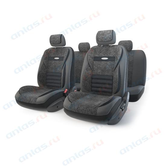 Чехлы Comfort Multi 11 пр. экокожа/велюр черные MLT-1105GV BK/BK (M)