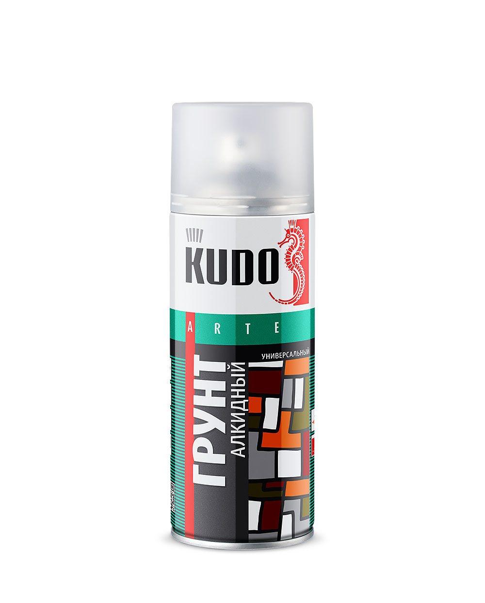 Грунт аэрозоль красно-коричневый 520 мл Kudo KU-2002