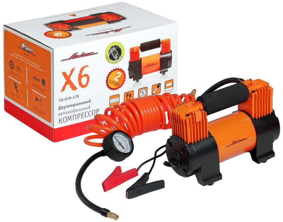 Компрессор Airline Standart X6 70 л/мин до 10 атм двухпоршневой CA-70-17S