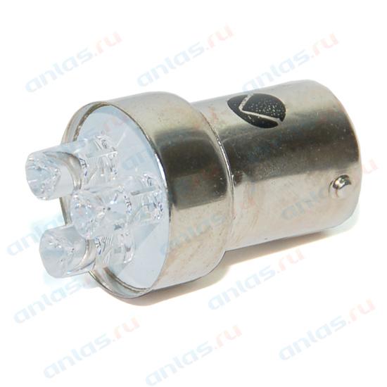 Светодиод 12В 5Вт металлический цоколь желтый 3 LED (габариты) Диалуч 005-Y