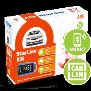 Автосигнализация Star Line A95 BT автозапуск, Can-Lin, телематика