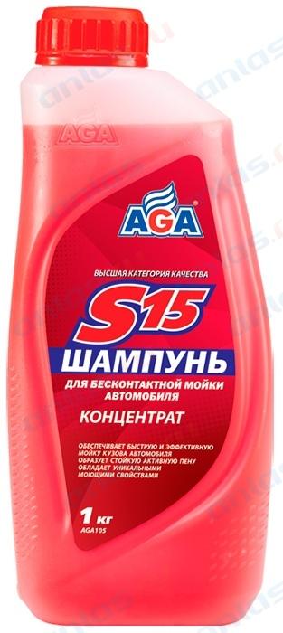 Автошампунь для б/мойки AGA концентрат 1 л