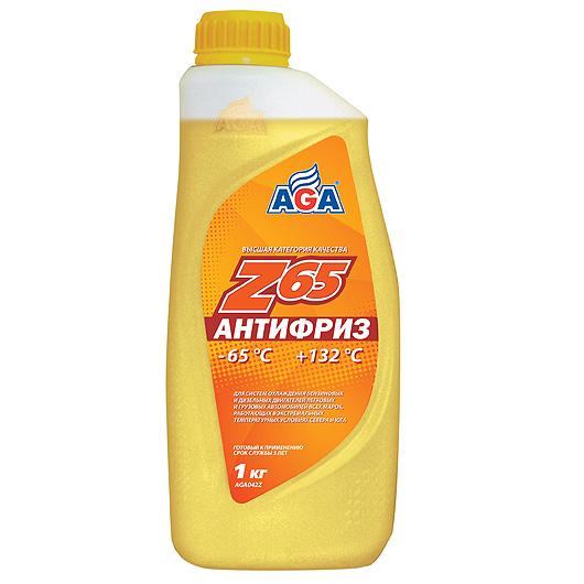 Антифриз AGA желтый -65С/+132С готовый 1 л AGA042Z
