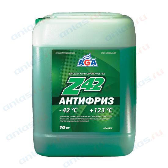 АНТИФРИЗ AGA ЗЕЛЕНЫЙ -42С/+123С ГОТОВЫЙ 10 Л