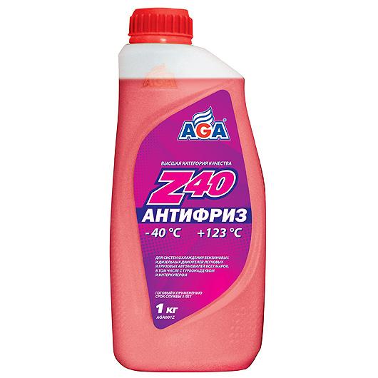 Антифриз AGA красный -40С/+123С готовый 1 л AGA001Z