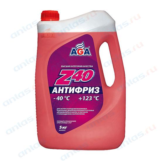 Антифриз AGA красный -40С/+123С готовый 5 л AGA002Z