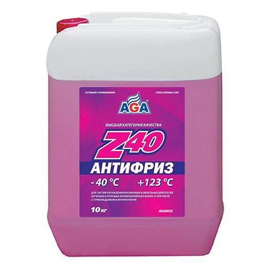 Антифриз AGA красный -40С/+123С готовый 10 л AGA003Z