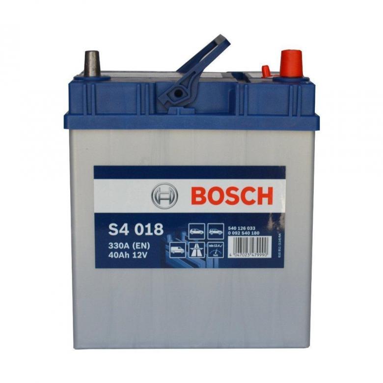 Аккумулятор Bosch Asia 40 А/ч о.п яп. ток 330 187х127х227