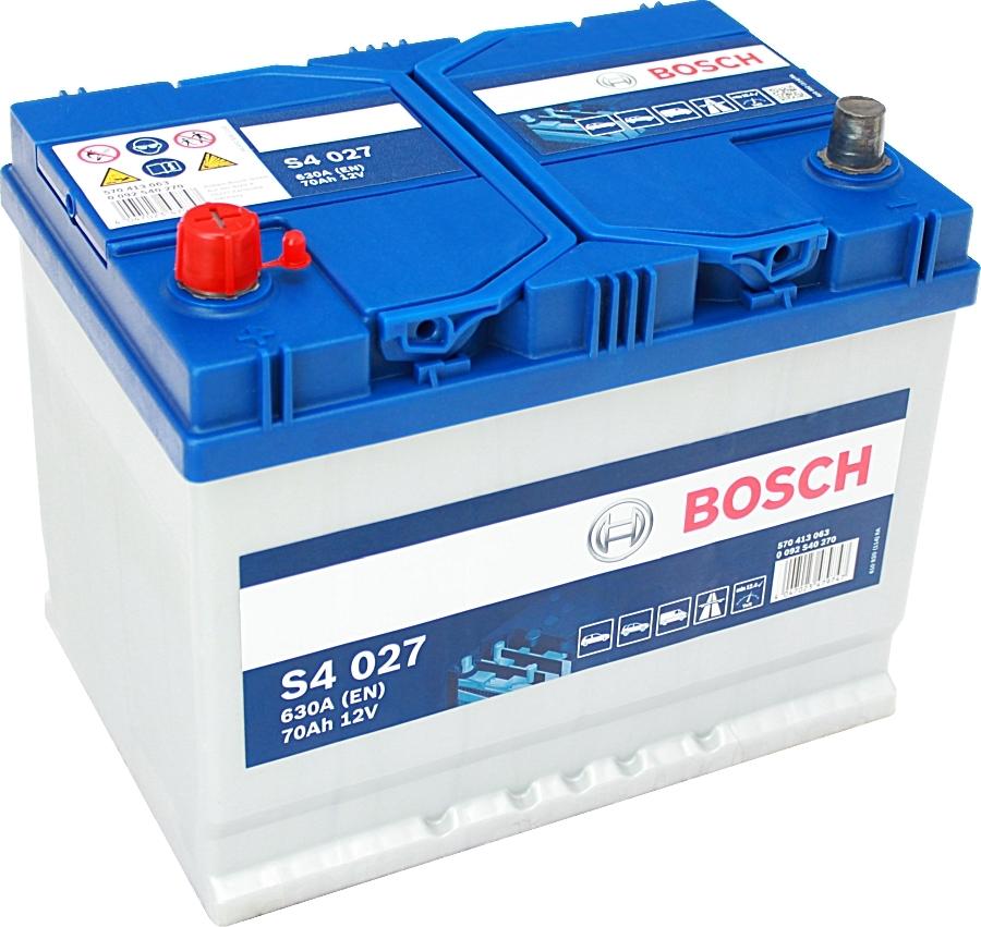 Аккумулятор Bosch Asia 70 А/ч п.п ток 630 260х175х220