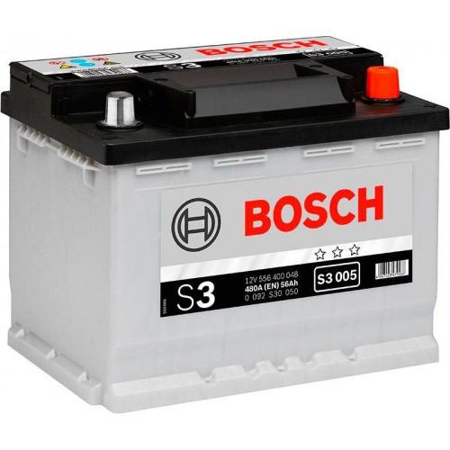 Аккумулятор Bosch S3 56 А/ч о.п ток 480 242х175х190