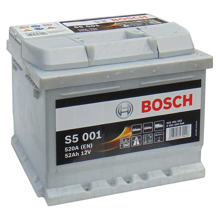 Аккумулятор Bosch S5 52 А/ч о.п ток 520 207 х 175 х 175 низкий