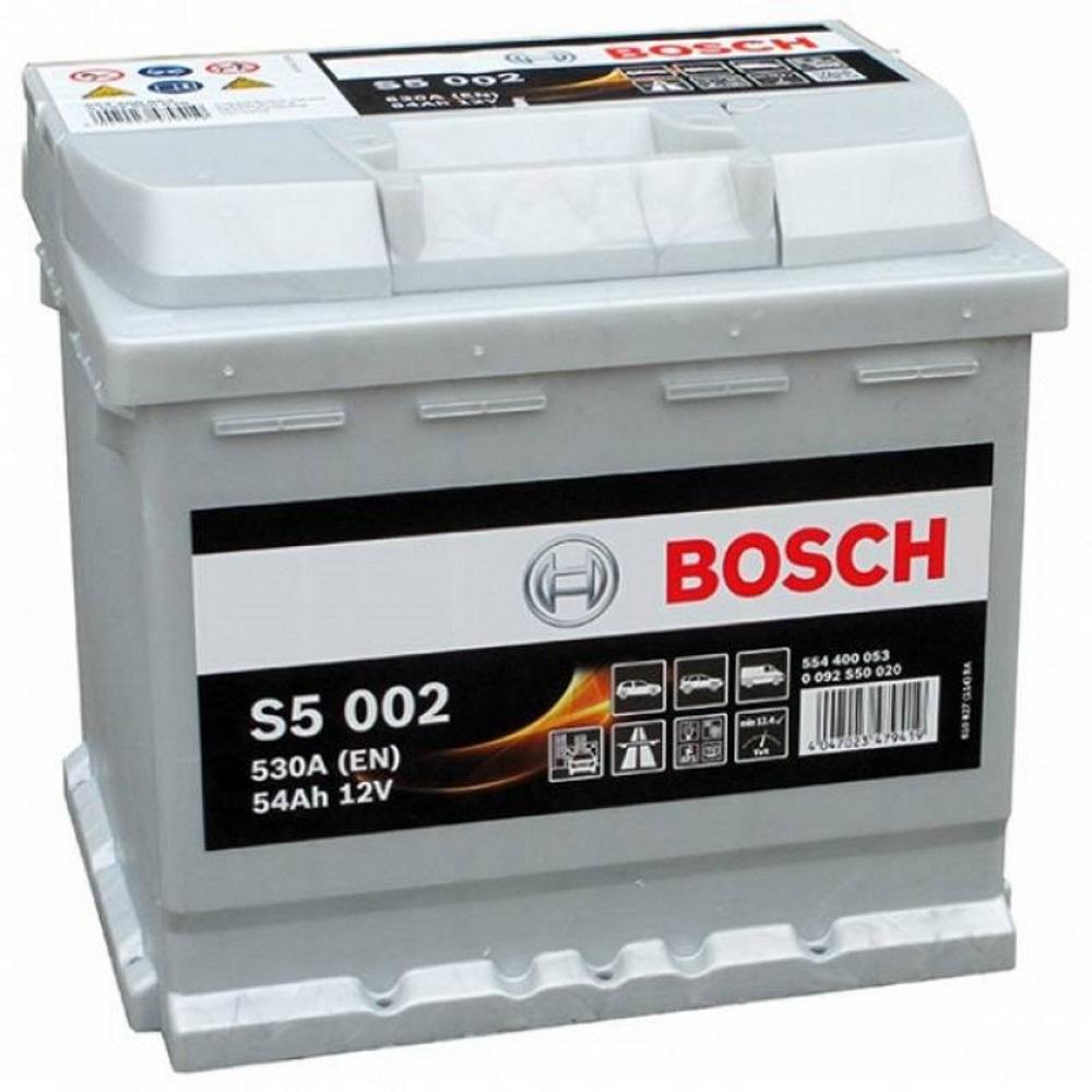Аккумулятор Bosch S5 54 А/ч о.п ток 530 207 х 175 х 190