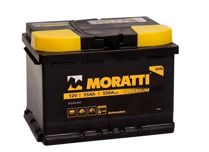 Аккумулятор Moratti 55 А/ч п.п. ток 550 242 х 175 х 175