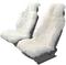 Накидка на сиденье нат.мех овчина Senator Country Classik длинный мех белая 2 шт. SC032WH