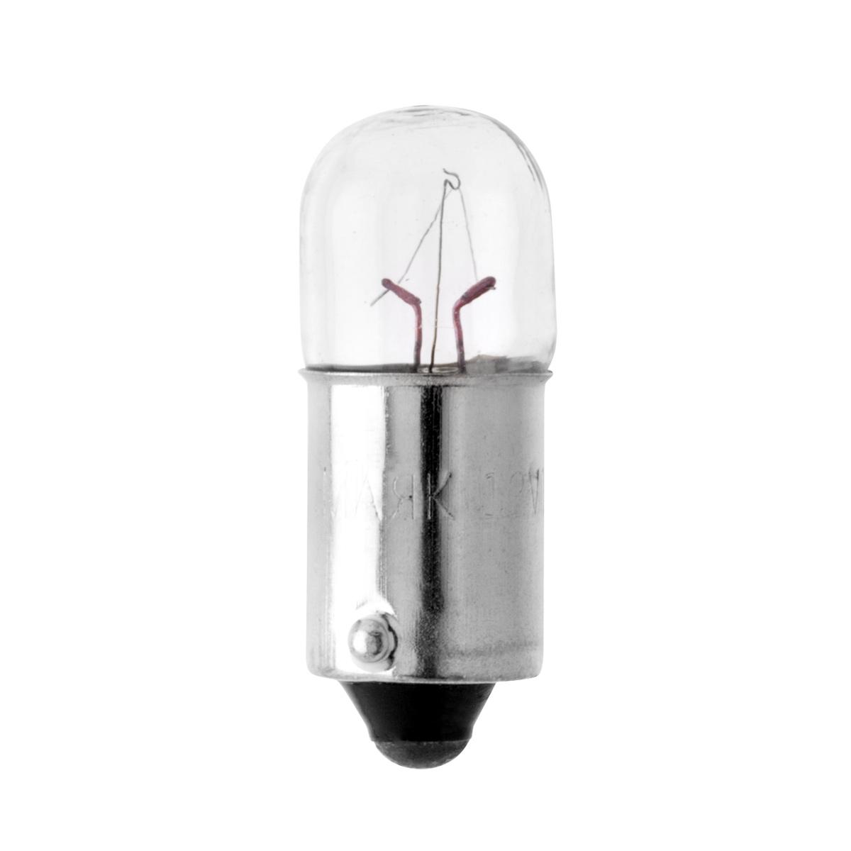 Лампа 12 В 1 Вт металлический цоколь приборная 100 шт Маяк 61201