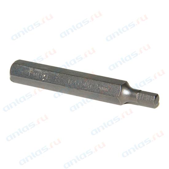 Бита Hex Н 5 шестигранник 10 мм L=75 мм Force F-1747505