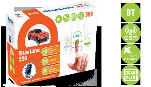 Автосигнализация Star Line S96 BT автозапуск, Can-Lin, GSM (4 sim), GPS телематика