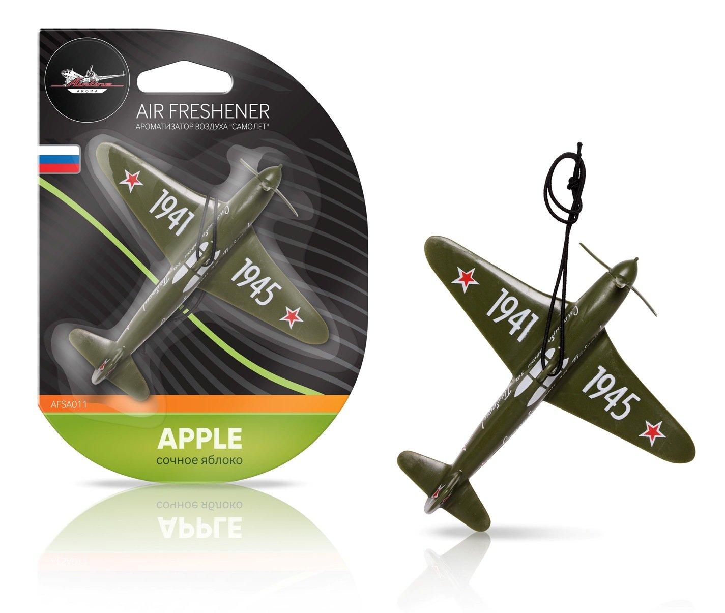Ароматизатор на зеркало Airline самолет сочное яблоко AFSA011