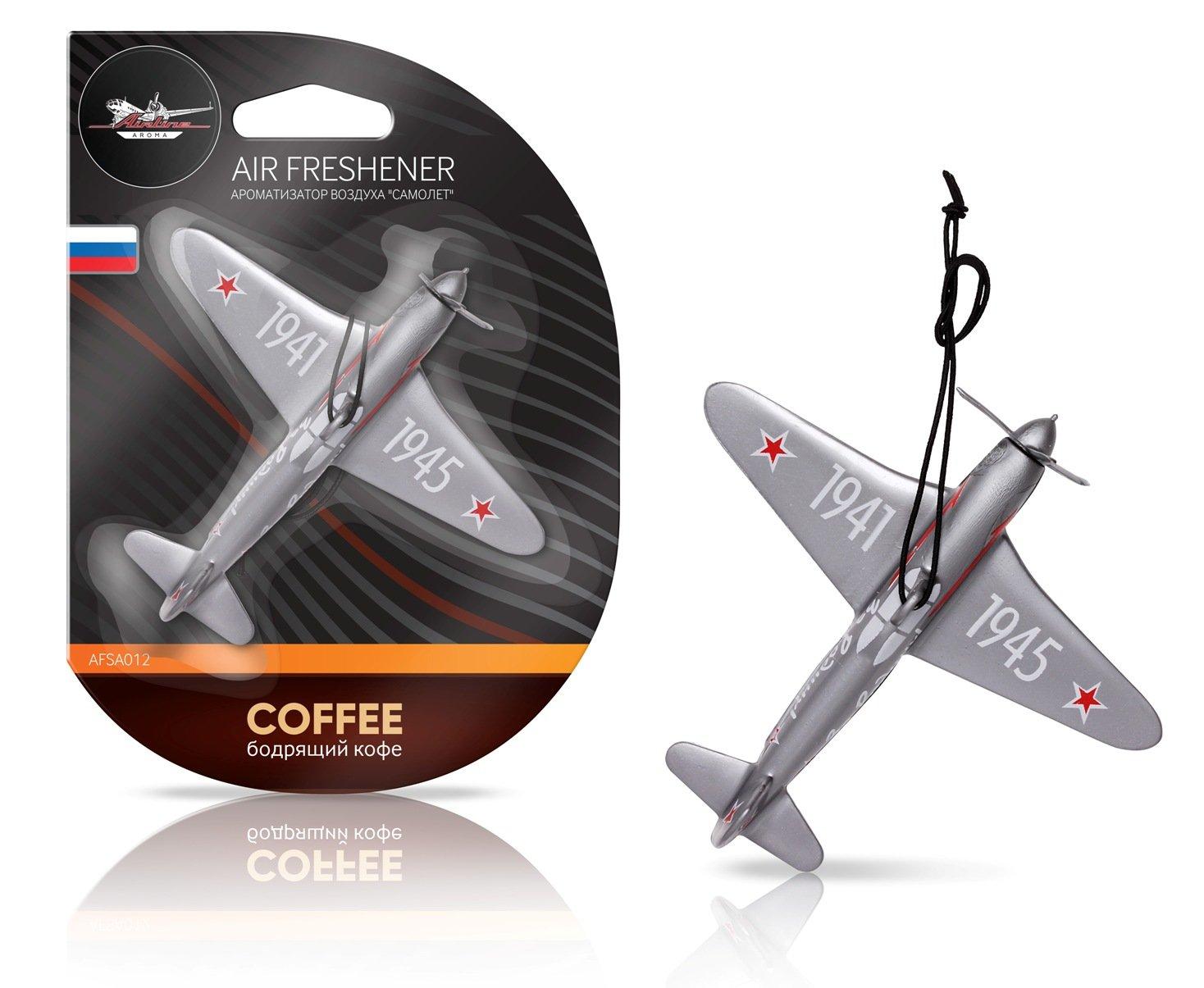 Ароматизатор на зеркало Airline самолет бодрящий кофе AFSA012