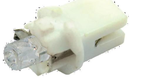 Светодиод 12В 1,2Вт с патроном зеленый 1 LED (приборная) конус Диалуч